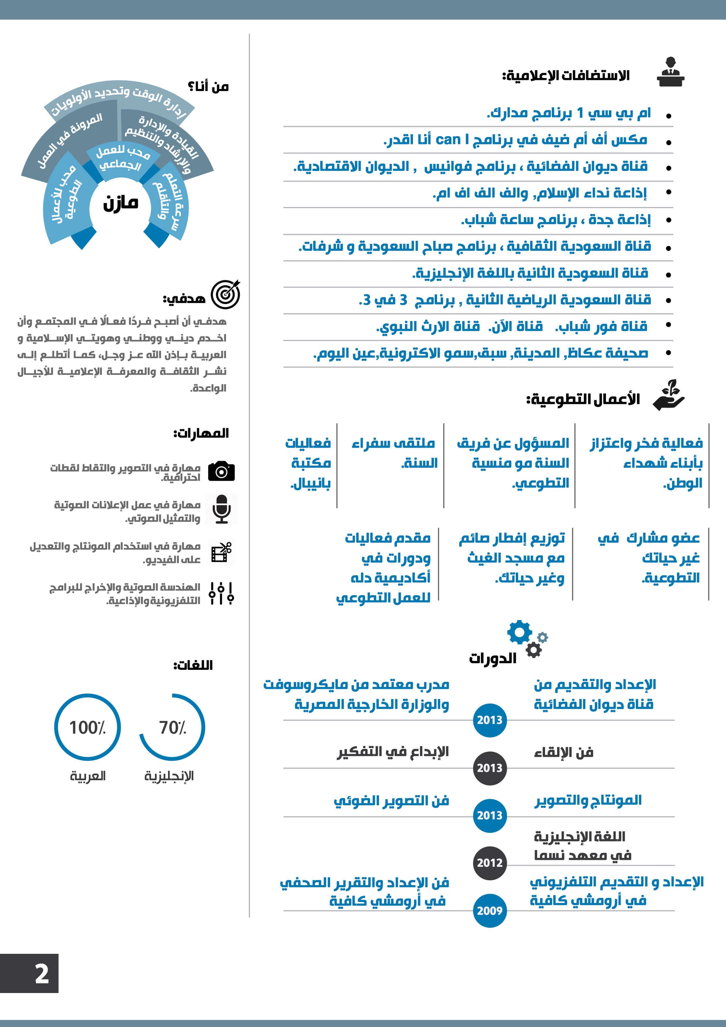 سيرة ذاتية انفوجرافيك الوان رسمية عربي او انجليزي