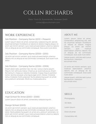 نموذج سيرة ذاتية انجليزي مهنية و احترافية
